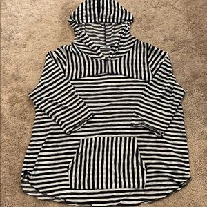 Maurices Lighweight Striped Pullover Hoodie